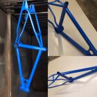 Bike frames powder coated in a wide variety of colours