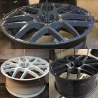 Alloy wheels powder coated