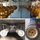 Ally and steel wheels powder coated