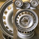 Steel wheels powder coated